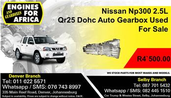 Nissan Np300 2.5L Qr25 Dohc Auto Gearbox Used For Sale.