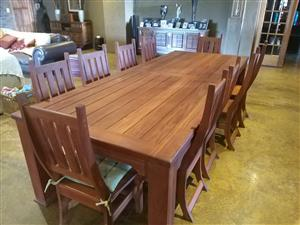 Beautiful 10 seater rose wood dining room table and chair