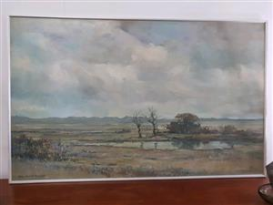 Very Large Orignal Don Madge Oil Painting