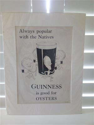 Guinness Is Good For Oysters - Genuine Print Circa: 1932 Artist: Unknown