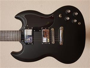 CHORD ELECTRIC GUITAR MATTE BLACK