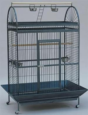 CC017 Parrot Cage Round Top Play 101x61x177cm