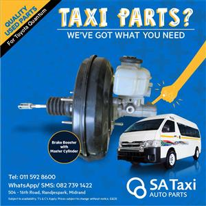 Brake Booster with Master Cylinder suitable for Toyota Quantum - SA Taxi Auto Parts used spares