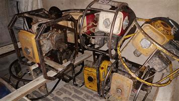 Assorted Honda concrete compaction drive units and pokers - R 15,000 the lot