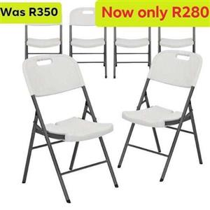 Brand new heavy duty plastic foldable chairs