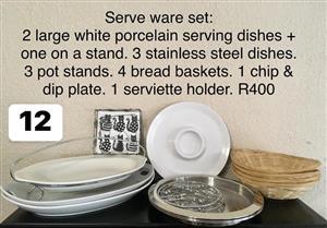 Serve ware set for sale