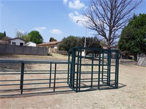 Farm gates and livestock handling equipment.