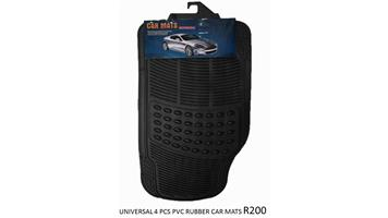 UNIVERSAL 4PCS PVC RUBBER CAR MATS