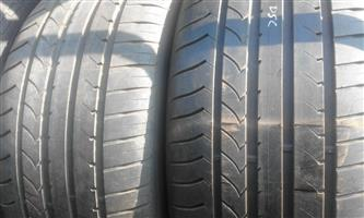 2xGoodyear Efficientgrip Runflat tyres 285/40/20 75% thread