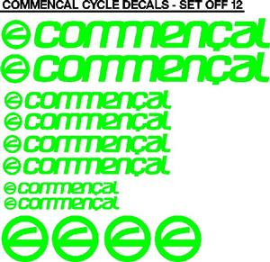 Commencal bicycle frame decals stickers vinyl cut graphics kits