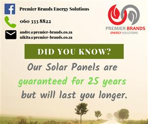 25 Year Warranty - Solar Panels