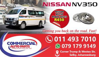 Brake Discs For Nissan NV350 Impendulo For Sale.