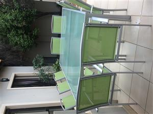 10 Seater Patio Set with 2 Pool Loungers