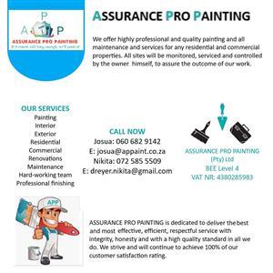 Painting, Renovations, Maintenance, Handyman services