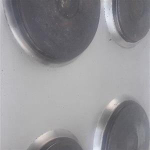 Defy silver hop 4 plate