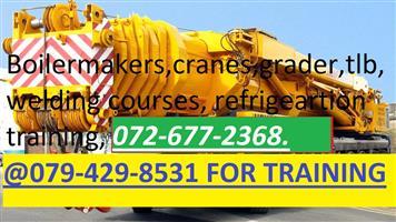 plant machinery training. 0795486882.GRADER. CRANES.BOILERMAKER.WELDING.PLANT MACHINE CERTIFICATE.