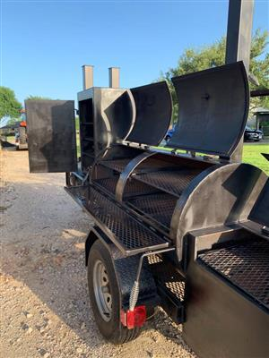 "New BBQ 60""x 30"" Pit Smoker (1/2"" Firebox) and Grill"