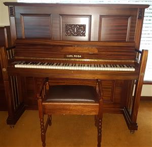 Upright Piano Carl Rosa 1910s (Serial 27731) R 31500