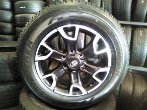 18 inch Toyota Hulix/ Fortuner Legend 50 x4 mags with x4 brand new tyres R14000.