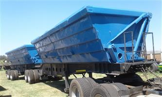SIDE TIPPER  AND SKELETAL TRAILERS