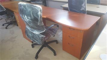 CHERRYWOOD OFFICE TABLE AND CHAIR (SET)