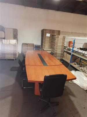 10 seat Boardroom table with chairs