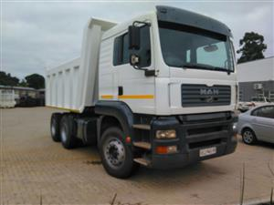 MAN TGA 33.480,2008 MODEL WITH NEW 12 CUBE BIN & TYRES