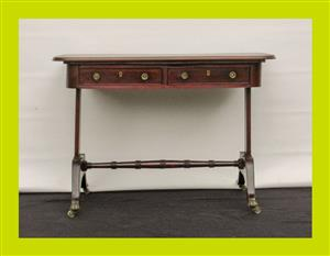Antique Mahogany Two Drawer Sofa Table - SKU 62