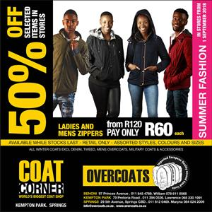 50% Off Sale on Selected Coats. Second-hand clothing in bulk for resale. Make your own Cash