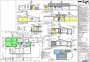 House plans & Alterations and extensions plans R1000
