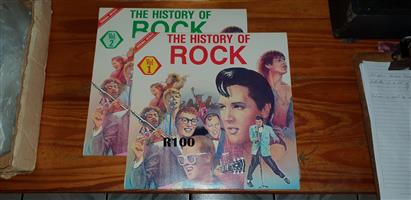 Volume 1 and 2 of the History of Rock LP Records
