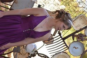 beautiful purple-pink ombre 100% Silk dress