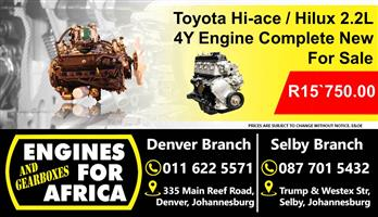 Toyota Hi-Ace / Hilux 4Y Engine Complete For Sale.