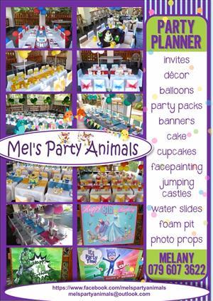 Kiddies parties - Mel's Party Animals