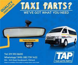 Interior Mirror suitable for Toyota Quantum  - Taxi Auto Parts quality used spares - TAP