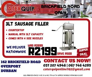 3 Lt Sausage Filler Sale - Save R500