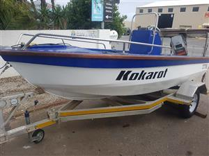 Newly re-furbished boat, with 55 Mariner