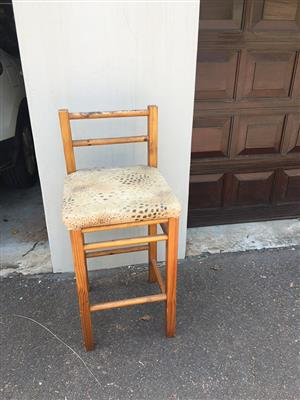 Wooden bar stool for sale