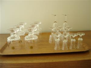 Crystal glasses.