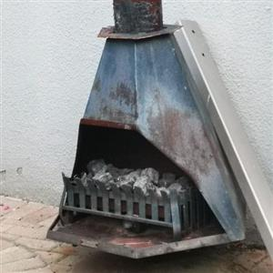 jet master gas fire place with chimney