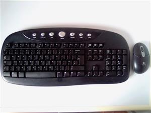 Keyboard and Mouse Logitech wireless. See the picture for more info. R250 per set. I am in Orange Grove.