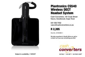Plantronics CS540 Wireless DECT Headset System