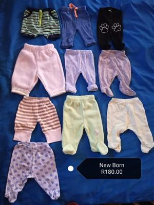 10 New born pants for sale
