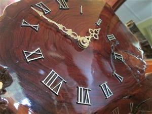 Mantle clock, wood, electric clockwork, used, runs fine.
