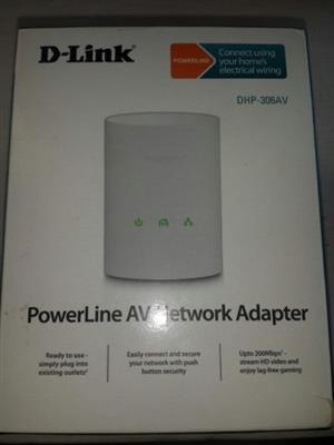 Power line AV network AdapterD-link DHP 308AV