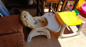 Baby feeding chair and table for sale