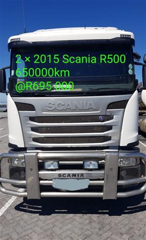 2 × 2015 scania R500