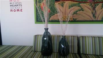 Dark green glass vases for sale