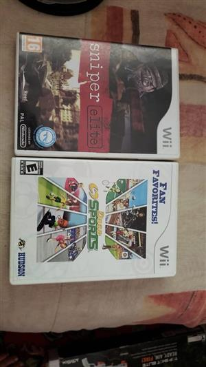 2 wii games