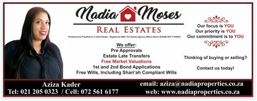 Morgen Village. Looking to sell your place or know of someone wanting to sell their property? Contact Aziza Kader today on 0725616177